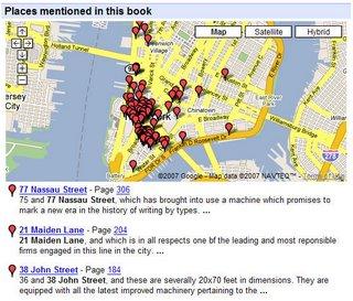 mapas en los libros con Google